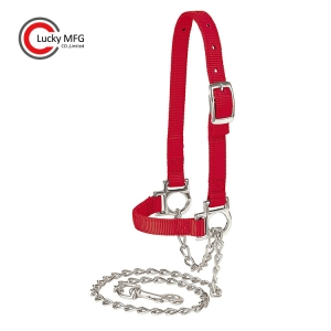 Sheep Halter With Chain Lead