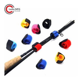 Stretchy Fishing Rod Protector Belts Straps Band Pole Holder Fishing Tackle