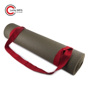 Adjustable Yoga Mat Carry Sling Black Strap