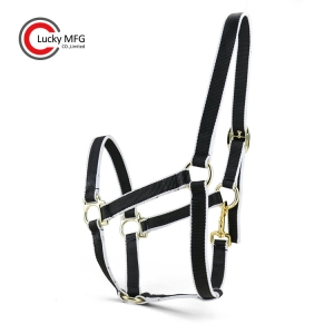 Nylon Horse Halter With Brass Snap Hook For Stud-farm