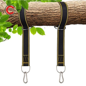 Outdoor Hammock Tree Swing Hanging Strap With Heavy Duty Locking Carabiners