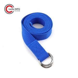Wholesale Double D Ring Cotton Yoga Belt