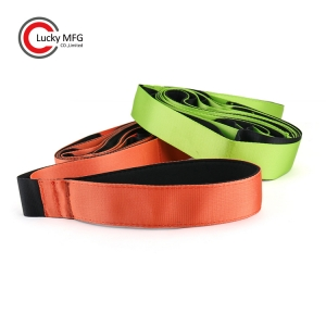 2 Pieces Family Set Yoga Stretching Strap With Neoprene Handle & Workout Instruction Included