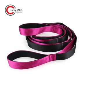 Custom Logo Yoga Workout Ballet Nylon Yoga Stretching Strap Band With Loops