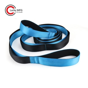 Sky Blue Color Fitness Yoga Stretching Strap With Neoprene Grip