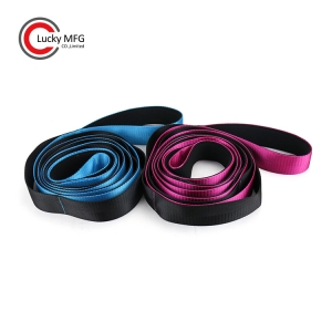 2 Pieces Set Family Pack For Woman & Man Yoga Stretching Strap With Soft Neoprene Handle