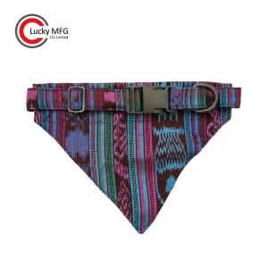 Colorful Vintage Fabric Designer Dog Collar Bandana