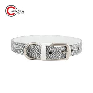 Good Hand Feel Tweed Fabric Smart Pet Collar