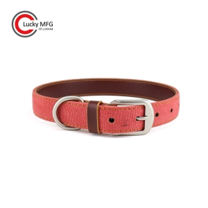 Eco Friendly Dog Collar With Metal Buckle
