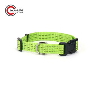 Reflective Nylon Webbing Dog Collar