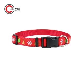 Colorful Christmas Dog Collar