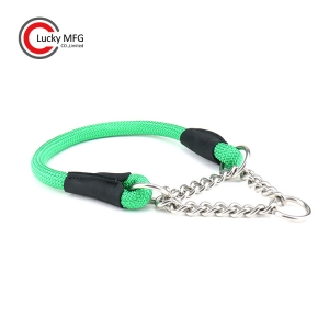 PP Rope Stainless Steel Chain Dog Collar