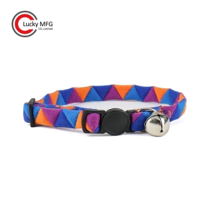 Colorful Triangle Fabric Cat Collar