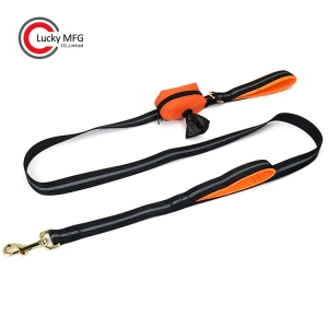 Walking Dog Leash With Poop Bag Holder