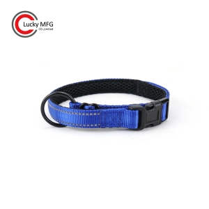 Mesh Padded Dog Collar With Big O Ring
